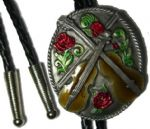 Country Music (fiddles & roses) bolo tie